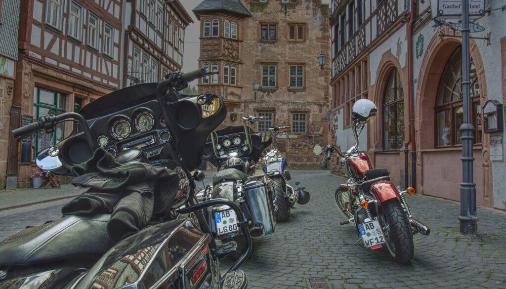 Motorrad - Büdingen Altstadt
