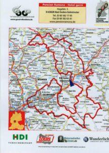 Motorrad Karte - Main-Kinzig Vogelsberg Rhön